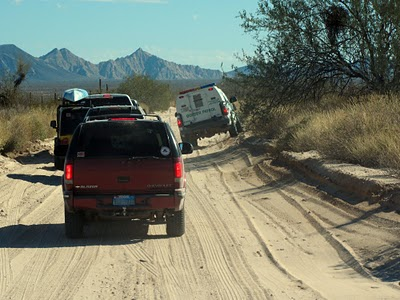 The only other vehicles we saw on the whole 100 miles belonged to the border patrol.