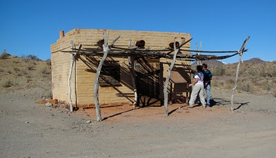 There were some primitive campsites on the road. This is the casita at Tule Well Camp.
