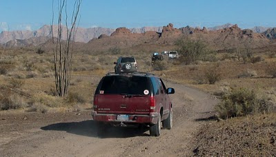 Kurt led us on a 100-mile trip down through the Barry M. Goldwater Air Force Range south of town. We went down El Camino del Diablo, the Road of the Devil, to close to the Mexican border. This road had been used since prehistoric times.