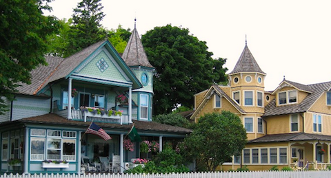 Actually Mackinac Island is known for something else - these lovely Victorian houses, most of which are now Bed and Breakfasts