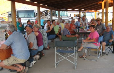We had quite a crowd at the gathering and Kay did a great job as host.