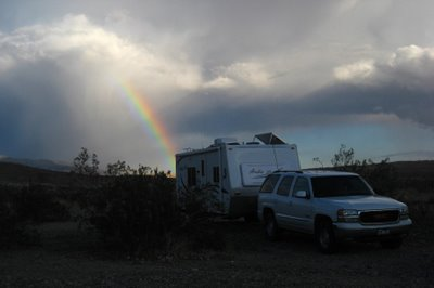 We had barely finished dinner when storm clouds gathered. After the shower, were were treated to a beautiful rainbow.