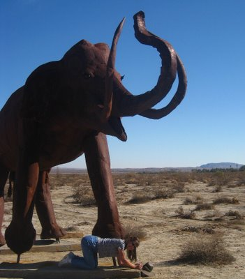 This mammoth tried to trample me!