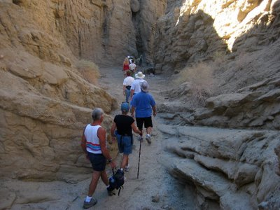 """Another day we went on a hike through """"The Slot."""""""